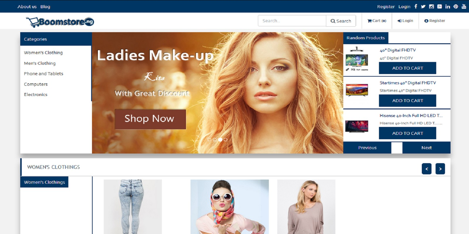 Boomstore - eCommerce System image loading